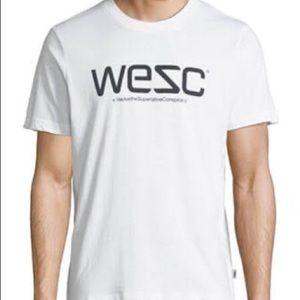 NWT WeSC Logo Tee Shirt Short Sleeve Size Small